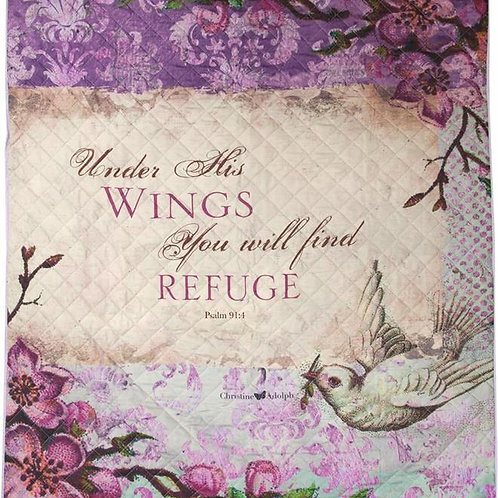 Psalm 91:4 Under His Wings Quilt