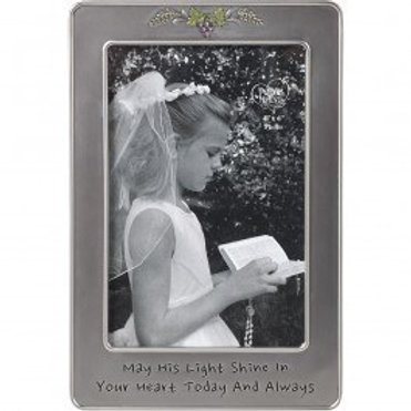 """""""May His Light Shine In Your Heart Today And Always"""" Photo Frame"""