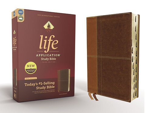 NIV Life Application Study Bible Third Edition Indexed Brown/Tan
