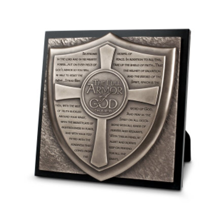 The Full Armor Of God Plaque Ephesians 6:10-18 by Lighthouse Gifts