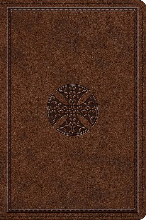 ESV Study Bible Brown Mosaic Cross