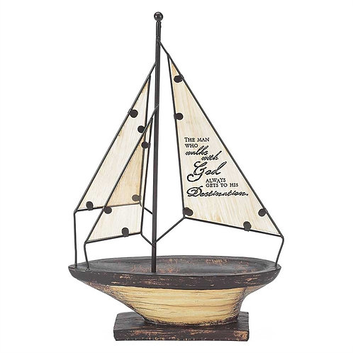 Sailboat The Who Walks With God Always Get To His Destination  SKU: SBTTAR-103