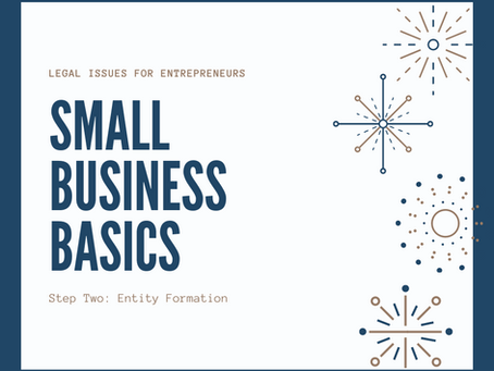 Small Business Basics: D/B/A, LLC or Corporation?