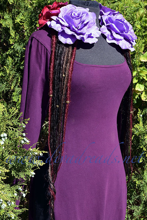 Diva Dreads Signature Dreads in Black and Burgundy XL