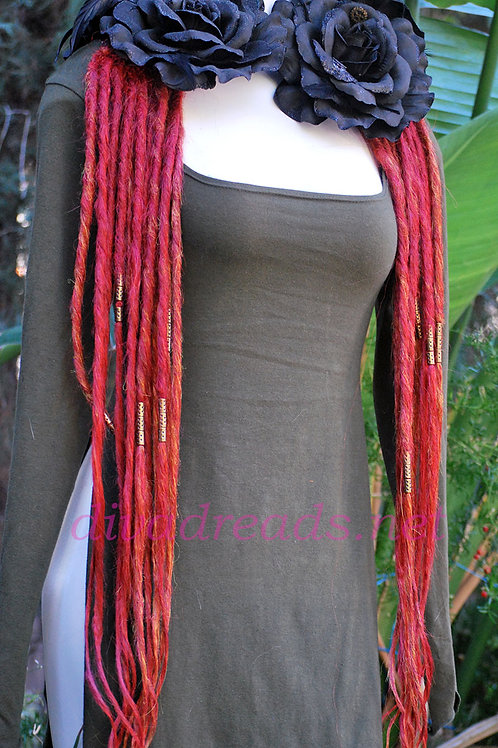 Diva Dreads Signature Dreads in Mixed Bright Reds XL