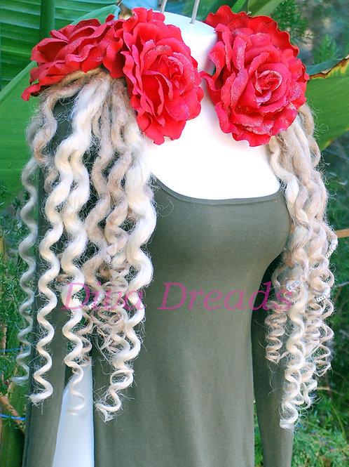 Diva Dreads Signature Super Curly Dreads in Platinum Blonde