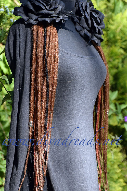 Diva Dreads Signature Dreads in Medium Copper Brown