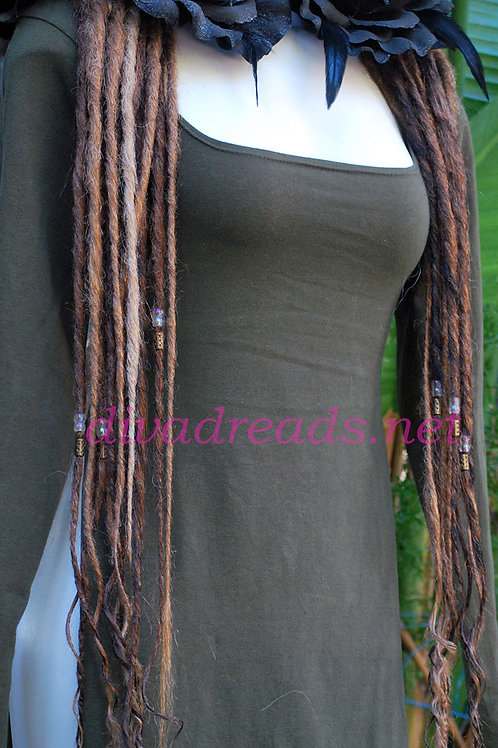 Diva Dreads Signature Dreads in Mixed Browns, and Blondes