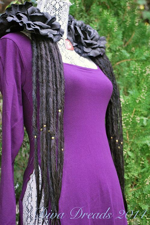 Diva Dreads Signature Dreads in Color #2 (Darkest Brown)