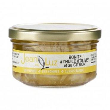 """Thunfischfilet Bonito in Glas """"Zitrone"""" mit Olivenöl 140g JeandeLuz"""