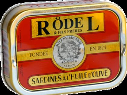 "Sardinen ""Jahrgangsardinen 2018"" mit Olivenöl 115g Rödel"