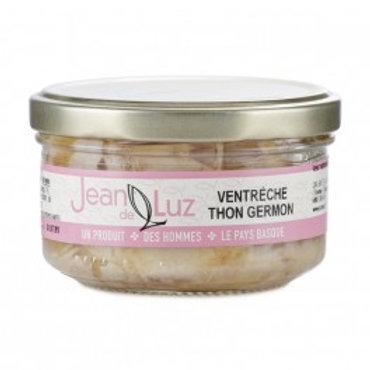 """Weisser Thunfisch in Glas """"Ventreche Germon"""" mit Olivenöl 140g JeandeLuz"""