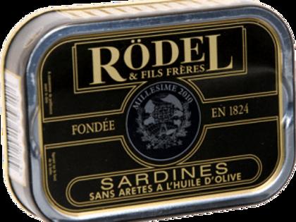 "Sardinen ""Jahrgangsardinen"" o.Gräten mit Olivenöl 115g Rödel"