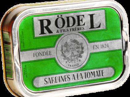 """Sardinen """"Tomate und Gewürz"""" und Olivenöl 115g Rödel"""