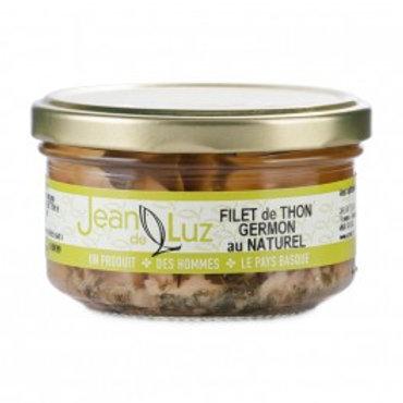"""Weisser Thunfisch in Glas """"Filet Germon"""" Naturel 140g JeandeLuz"""
