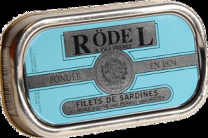 Sardinen Filet o.Haut mit Olivenöl 69g Rödel