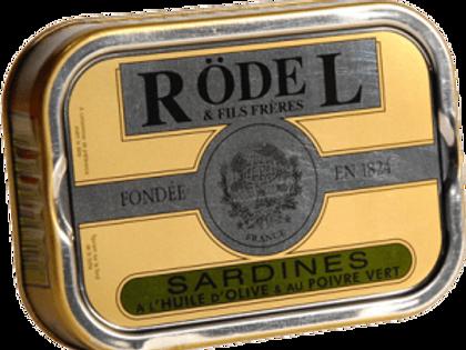 """Sardinen """"Grüne Pfeffer"""" und Olivenöl 115g Rödel"""