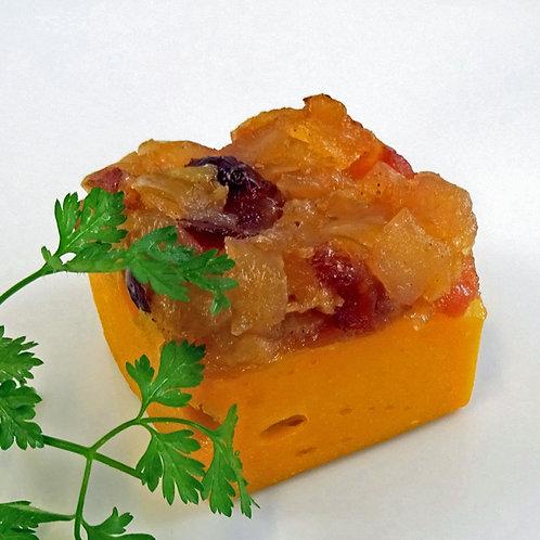 Süßkartoffelauflauf mit Zwiebelchutney