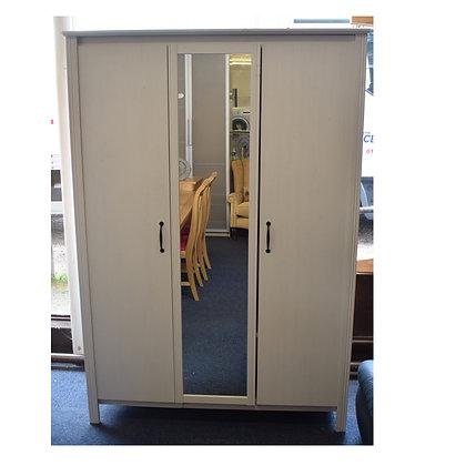 White Three Door Wardrobe x2 (Ref: 769)