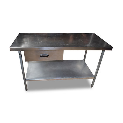 1.5m Stainless Steel Table With Drawer (SS653)