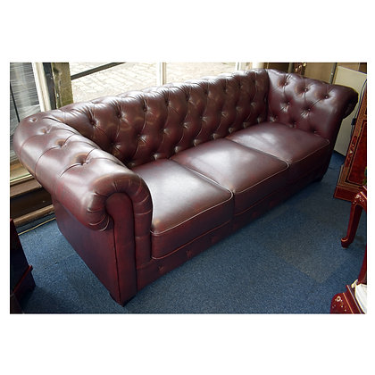 Red Leather Chesterfield Settees Ref: 513