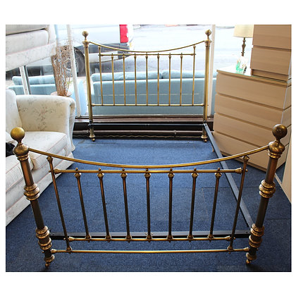 King Size Brass Bed Ref: 493