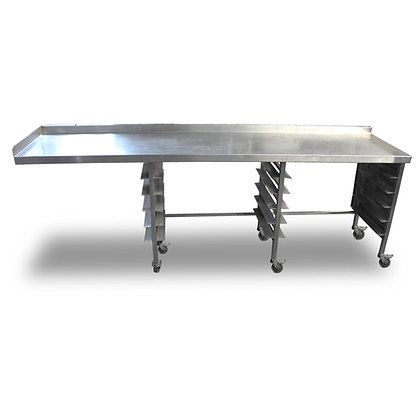 2.5m Stainless Steel Bakers Table (SS520)