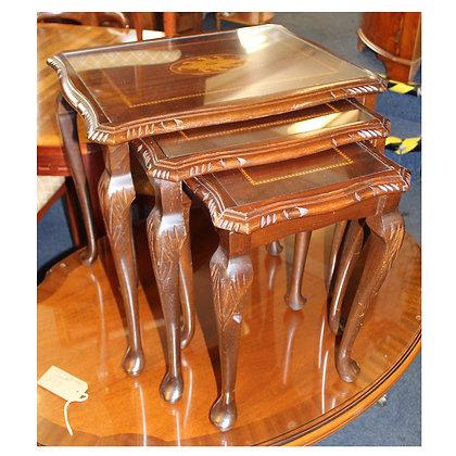 Dark Wood Nest of Tables Ref: 475