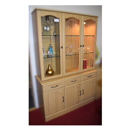 Light Wood Wall Unit Ref: 382