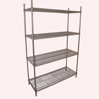 1.2m Stainless Steel Wire Shelving (SS5282)