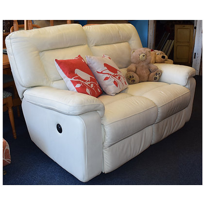 White Leather Electric Recliner Ref: 421