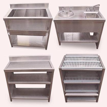 Complete 4 Piece Back Bar Unit (SS4959)