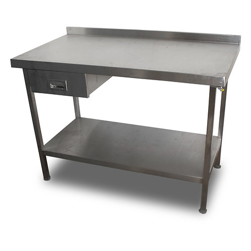 1.2m Stainless Table with Drawer Ref: SS4744
