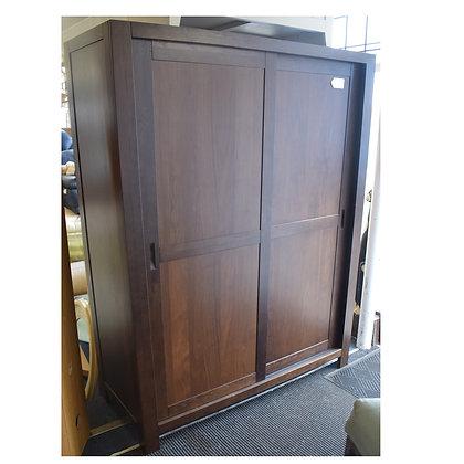 Darkwood Double Sliding Door Wardrobe (Ref: 691)