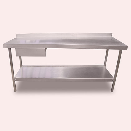 1.7m Stainless Bench with Left Drawer (SS5018)