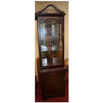Dark Wood Corner Cabinet Ref: 424