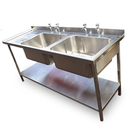 Stainless Steel Double Sink Unit Ref: SS4688
