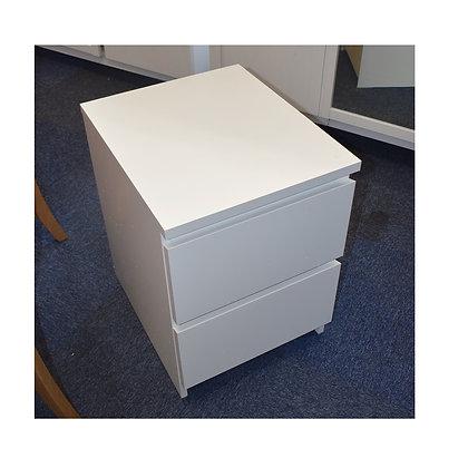 Modern White Bedside Cabinet (Ref: 772)