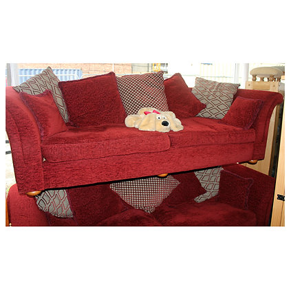 Two Large Red Settees Ref: 304