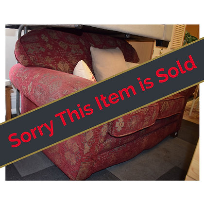 Red Fabric Patterned Sofa Ref: 118