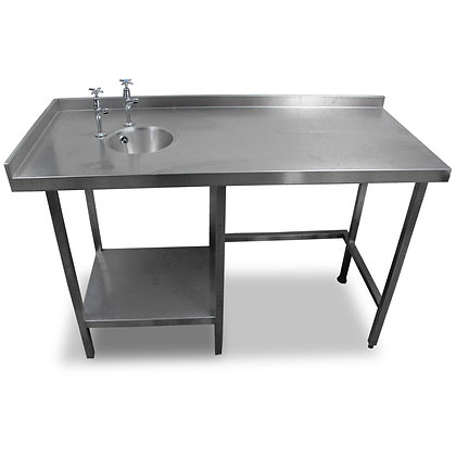 1.4m Stainless Steel Table With Handsink (SS534)