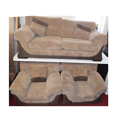 Fabric Three Piece Suite With Electric Recliners (Ref: 681)