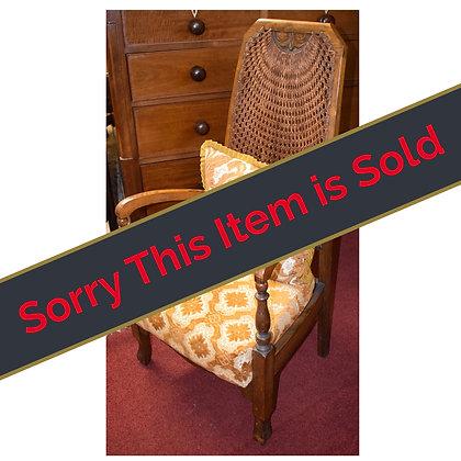 Antique High Back Chair Ref: A433