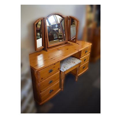 Pine Dresser & Stool Ref: 292