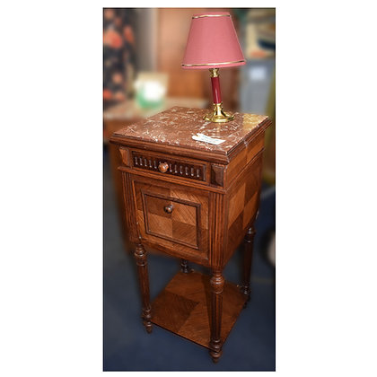 Edwardian Bedside With Marble Top Ref: 401