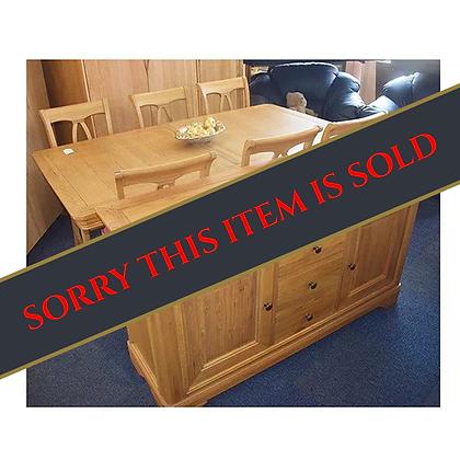 Solid Oak Table & Sideboard Set (Ref: 583)