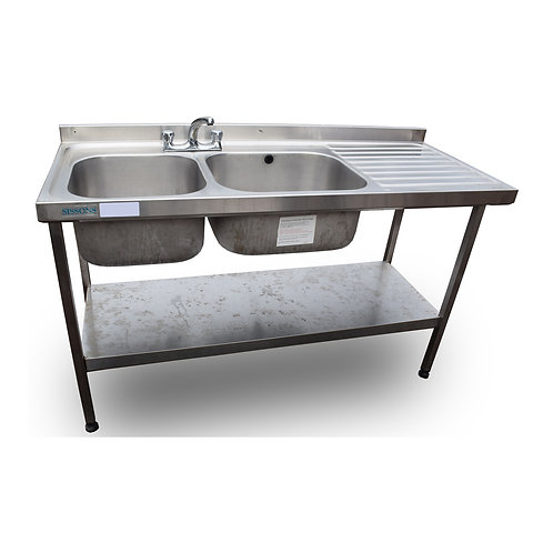 1.5m Double Stainless Steel Sink (SS467)