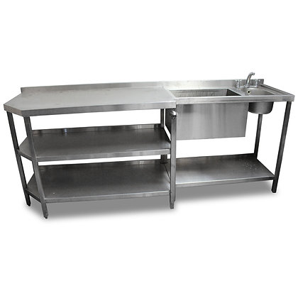 2.27m Stainless Steel Bar Unit (SS543)