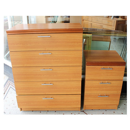 Chest of Drawers & Bedside Ref: 444