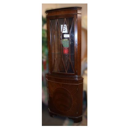 Dark Wood Corner Cabinet Ref: 400
